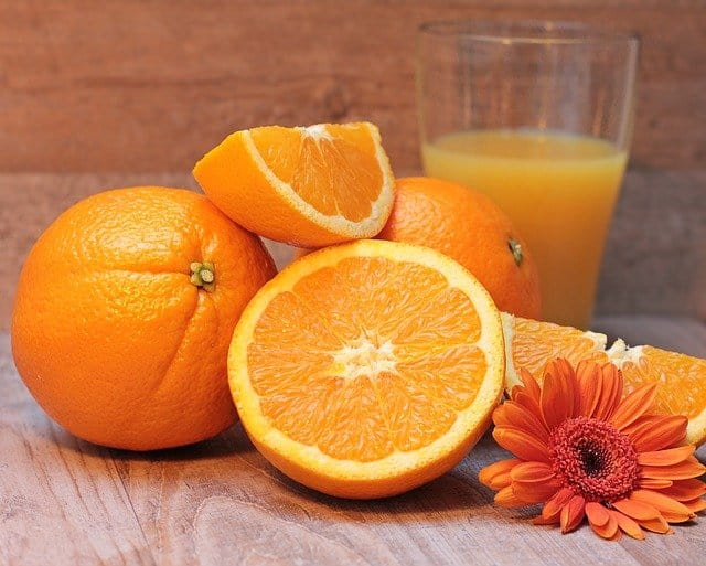 how much juice from one orange